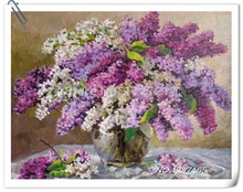 Diamond Embroidery fantasy Purple Vase diamond mosaic pattern paintings rhinestones crystals gifts in moscow 2015