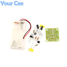 Triode Transistor Multivibrator LED Flash Light Electronic Circuit DIY kits Training Set Design(China)