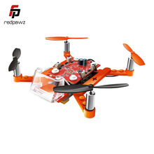 2017 New Cool RC Helicopter Blocks Flying DIY 2.4G 4CH 6Axis Gyro RC Quacopter RTF  DIY Vestion Funny RC Helicopter Gift Toy