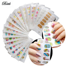 Bittb Nail Sticker Polish Tools Decoration Metallic Stamp 3D Brand Art Nail Decal Makeup Gilding Glitter Stickers Nail Files(China)
