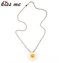 Fashion Accessories Female Daisy Necklace Long Necklace Factory Wholesale