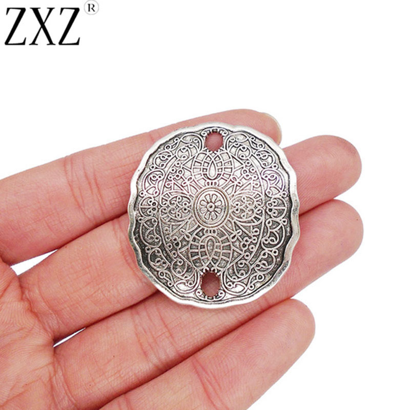 6pcs antiqued bronze color floral rim  oval cabochon setting in 18x13mm EF3080