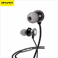 AWEI ES-980hi 3.5mm Earphone HiFi Stereo Noise Cancelling Wired Headset With Microphone For Samsung For iPhone MP3 MP4 Laptop(China)
