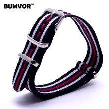 22 mm Watchbands Man Women Multi Color Black White Nato Fiber Woven Nylon Watch Strap Wristwatch Bands Buckle 22mm For watches