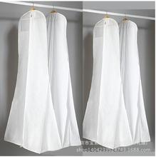 Non-Woven Fabric & Plastic Wedding Dresses Garment Dust Proof Cover Bags Storage Bags For Clothes(China)