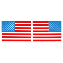 1 Pair 6 Inch American Flag USA Mirrored Reverse Vinyl Decals for Boat Truck Car Sticker 15.5 x 10.5cm(China)