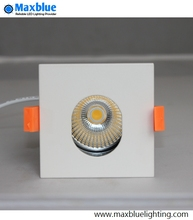 Dimmable COB Square LED Downlight 12W mini Movable CREE downlight with Oval holeal Hole