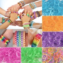 1000Pcs Glitter Silicone Loom Rubber Bands Refill + 5x Loom Tool + 75x S Clips DIY Carft Bracelet LM0003