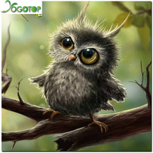 3D Diamond Painting Cross Stitch Pattern 5D Diamond Embroidery Owl Mosaic Resin Full Drill Home Decor DIY Painting GT300(China)