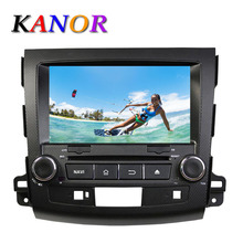 KANOR Android 5.11 Quad Core Car Autoradio DVD Player For Mitsubishi Outlander 2006 2007 2008 2009 2010 2011 2012 Multimedia