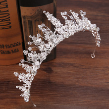 Rhinestone tiaras and crown bride crystal flower wedding crown queen prom pegent  luxury wedding hair accessories