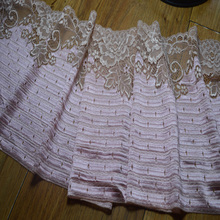 Free shipping21cm 2yds/lot pink  Handmade Hair Decoration Elastic Stretch Lace Trim wedding dress skirt lace trim 16121009