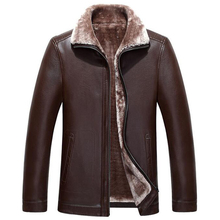Warm Mens Shearling Coat XXXL Plus Size Online Store Mens Fur Leather Jacket and Coat Velvet Europe Mens Faux Fur Coats New C331(China)