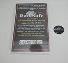 20pcs New Arrival 2.4cm radisafe mobile sticker new packing Anti-Radiation Battery Salvage Sticker Cell Phone EMF Shield(China)
