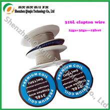 5m/roll 32G*26G/32*24G SS 316L Clapton Wire Heating Wire for E cigarette RDA RBA Rebuildable Atomizer Coil Pre-built coils