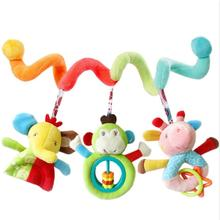Infanty newborn baby rattles toys 0-12 month baby cute soft animal hanging bed safety seat plush doll mobiles Puppet(China)