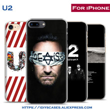 Amazing Rock Band U2 personality Style Phone Case Cover Shell Bag For Apple iPhone 7PLUS 7 6SPLUS 6S 6PLUS 6 5 5S SE 4 4S(China)