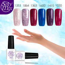 Sexy mix Newest Fashion Colors UV Nail Gel Polish Soak Off UV Gel Nail Varnish  Nail Gel Lacquer Nail Glue Gel Summer Colors