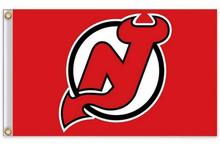 NHL flag new jersey devils with modified us stars and stripes flag 3ft x 5ft polyester free shiping