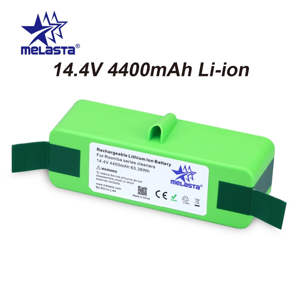 4.4Ah 14.4V Li-ion Battery with Brand Cells for iRobot Roomba 500 600 700 800 980Series 510 530 550 560 650 770 780 870 880 R3<br>