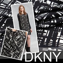 Free Shipping! Abstract Plaid black stretch silk fabrics exclusive limited edition