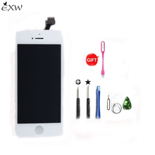 EXW Touch Replacement Screen with Digitizer LCD Display for iphone 5 White/Black Screens Replacement Alibaba China(China)