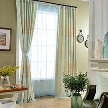 Korean Japanese garden grass coral cotton printed pieces on behalf of finished curtain screens blinds