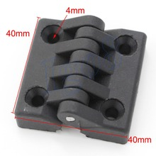 10pcs Black Butt Hinges Cabinet Door 40mm x 40mm Plastic Bearing Hinge
