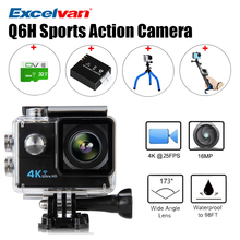 Q6H Camera 4K 2 Inch LCD 16MP H.264 173 Wide Lens Waterproof Action DV Wifi Action Sports Camera Helmet Cam camera Sport cam