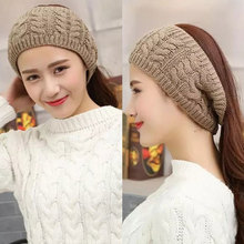 MISM 5 Patterns Solid Knitted Headband Perfect Quality Hair Accessories for Women Crochet Turban Head Wrap Girl Stretch Headwear(China)