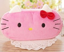 Kawaii 2Colors- Hello Kitty Plush Toy as Bag , 20CM Kid's Key chain Gift plush Toy(China)
