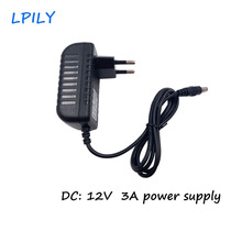 LPILY 3A Led power supply adapter 110V 240V to DC 12V For 5050 3528 3014 5630 LED strip EU UK AU US Plug