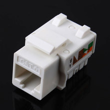 5pcs/lot CAT6 RJ45 110 Punch Down Keystone Network Ethernet Jack #53089