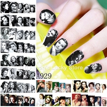 12 Sheets beauty Vivien Leigh water transfer nail art sticker decals nails decoration manicure tools Hollywood reminiscent style(China)