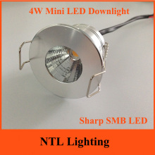 4W Dimmable Mini LED Downlight 12V 110V 220V Sharp SMB COB Ceiling Recessed Cabinet light lights instead 35mm Downlights