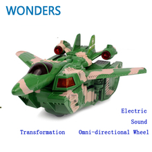 Innovative! child toys Deformation toy tank transformation plane Electric with sound and LED light toy Chistmas gift