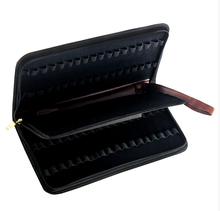 Fountain Pen Case Roller Pen Brown Pu Leather Case for 36 Pens(China)