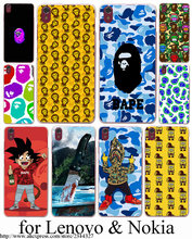 Sponge Bob Square Pants Bape Hard Transparent Case Cover for Lenovo S850 90 60 A536 328&Nokia 535 730 630 640 XL&Sony Z2 3 4
