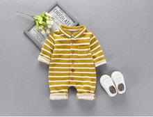 Baby clothes newborns spring and autumn velvet jumpsuits baby clothing for men and women cotton climb children's romper