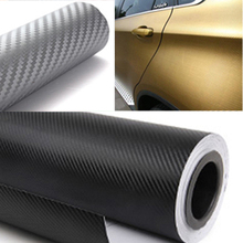 200cmx30cm 3D Carbon Fiber Vinyl Film 3M Car Waterproof DIY Auto Vehicle Car Styling Wrap Roll Car Styling Motorcycle(China)