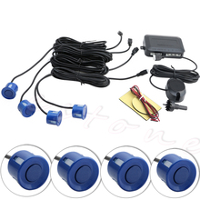 4 Parking Sensors Car Backup Reverse Radar Rearview Buzzer Sound Alarm