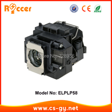 Compatible Projector Lamp Bulb ELPLP58 V13H010L58 For Epson EB-S10 lampada projector ELPLP-58