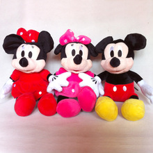 3pc/lot 30cm Mickey Mouse And Minnie Mouse Toys Soft Toy Stuffed Animals Plush stuffed Toy dolls free shipping