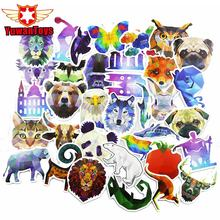 Hot 35Pcs/Lot Pvc Diamond Animal Stickers For Laptop Motorcycle Notebook Refrigerator Skateboard Mobile Phone Backpack Tables