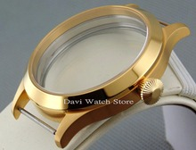 45mm Sapphire Sterile 316L Case watch fit 6497/6498 Seagull ST36 Movement mens watches