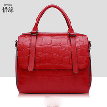 XIYUAN BRAND Original Quality Genuine Genuine Leather Lady blue Bags 2017 Hot Sale New Fashion Bag black Handbags Women red Bags(China)