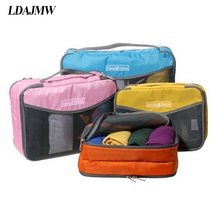 LDAJMW Nylon Waterproof Material Mesh Travel Luggage Packing Mesh Bags Clothes Toiletry Kit Organizer Zipper Hand Storage Pouch(China)