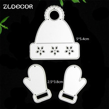 ZLDECOR Christmas Hat Metal Cutting Dies Stencils for DIY Scrapbooking/photo album Decorative Embossing DIY Paper Cards(China)