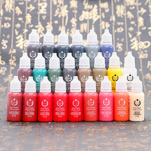 23 Color BAODELI 1/2OZ Micro Pigment Professional Makeup Eyebrow Eyeliner Lip Tattoo Ink Pigment Body Tattoo Art beauty tools