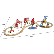 75pcs/set Beech wood Tomas and Friends railway train Track set Wooden slot toys for baby free shipping VIA DHL